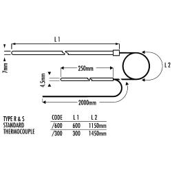 Thermocouple S et R ETALON 0°C à 1600°C