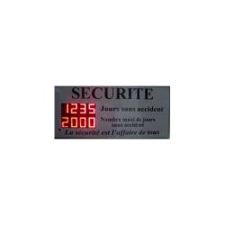 INDICATEUR AFFICHEUR SECURITE NOMBRE DE JOURS ARRET