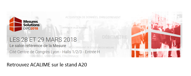 MESURE SOLUTIONS EXPO 2018