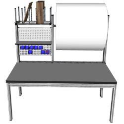 Poste d'emballage mobilier et table pour préparation expédition