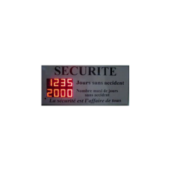 INDICATEUR AFFICHEUR SECURITE NOMBRE DE JOURS ARRET