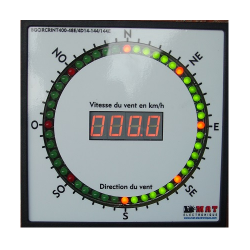 Indicateur bargraph METEO vitesse et direction