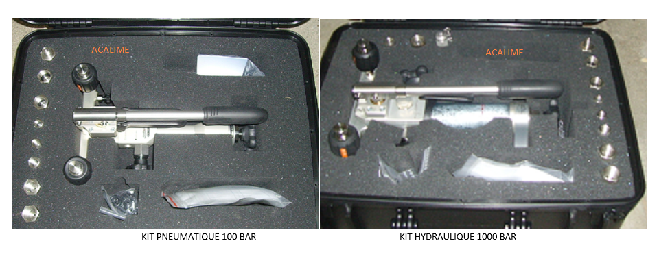 kit pression  pneumatique 100 bar